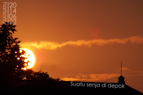 sun twilight senja sore matahari depok harisonly