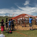 Building a Ger with Mongolian Rover Scouts: Getting the Roof On