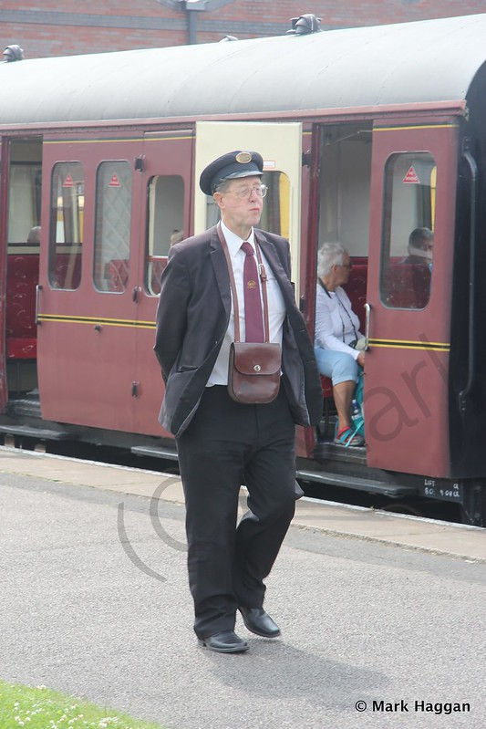 A guard at Chasewater Railway