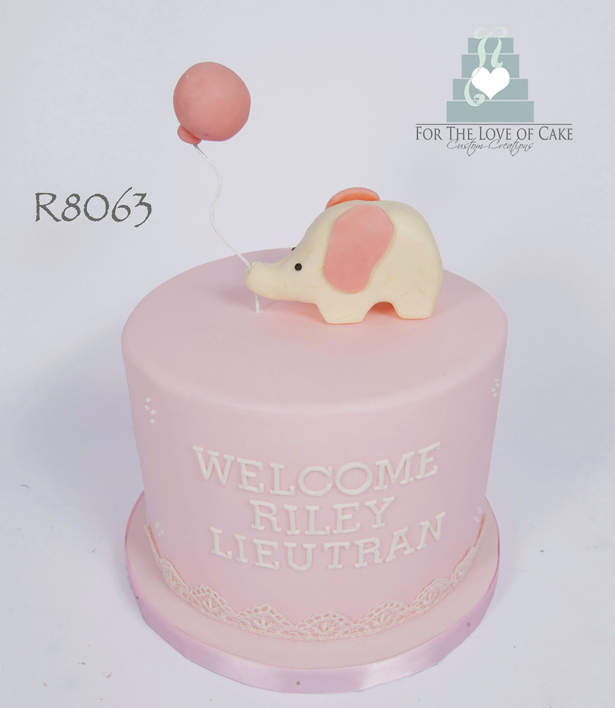 Cool R8063 Pink Elephant Baby Shower Cake Toronto Genevieve Finley Birthday Cards Printable Trancafe Filternl