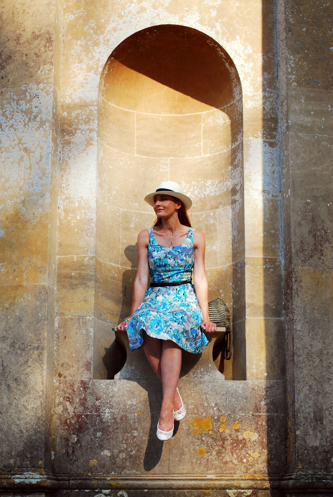 Retro style dress and Panama hat, Stourhead Gardens | Not Dressed As Lamb