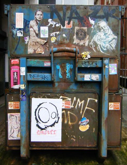 Manchester - street art on a skip.