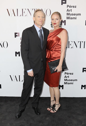 President of Board Jeff Krinsky and Brandi Reddick at PAMM Art Of The Party Presented By Valentino | by Pérez Art Museum Miami
