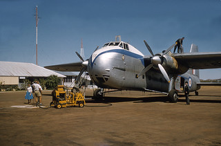 1958 RNZAF Bristol Freighter NZ5903 at Cloncurry, Queensland, Australia
