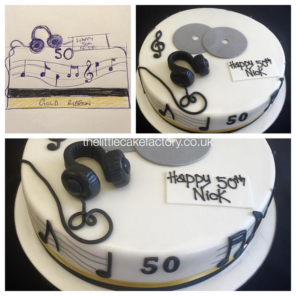 Brilliant Djs 50Th Birthday Cake Drawing Has Always Been A Pas Flickr Birthday Cards Printable Trancafe Filternl