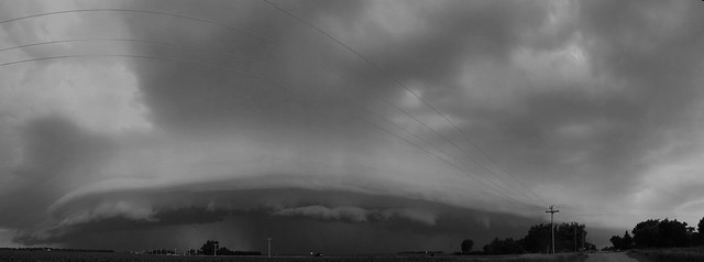 062409 - Ominous Outflow!!! Pano B&W