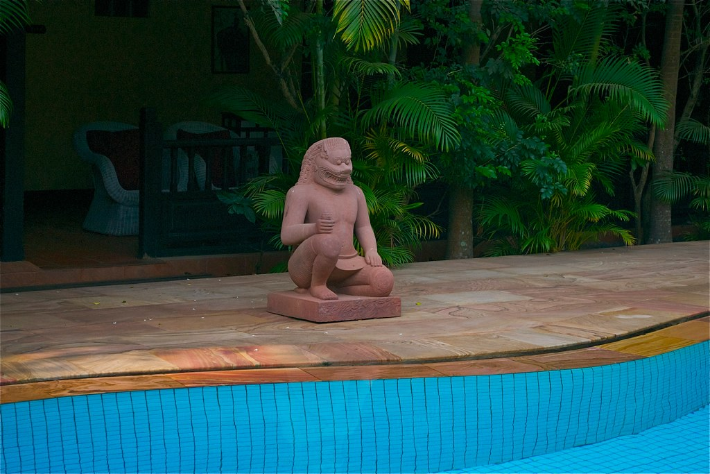 Siem Reap Cambodia Fu Dog By Pool Pavillon Indochine Eileen Williams Flickr