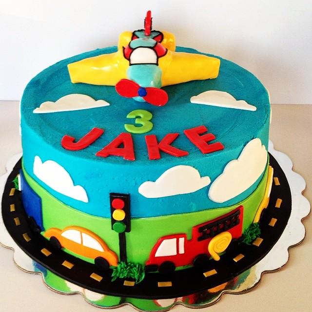 Fine Happy 3Rd Birthday Jake Birthdaycake Transportationcak Flickr Personalised Birthday Cards Epsylily Jamesorg