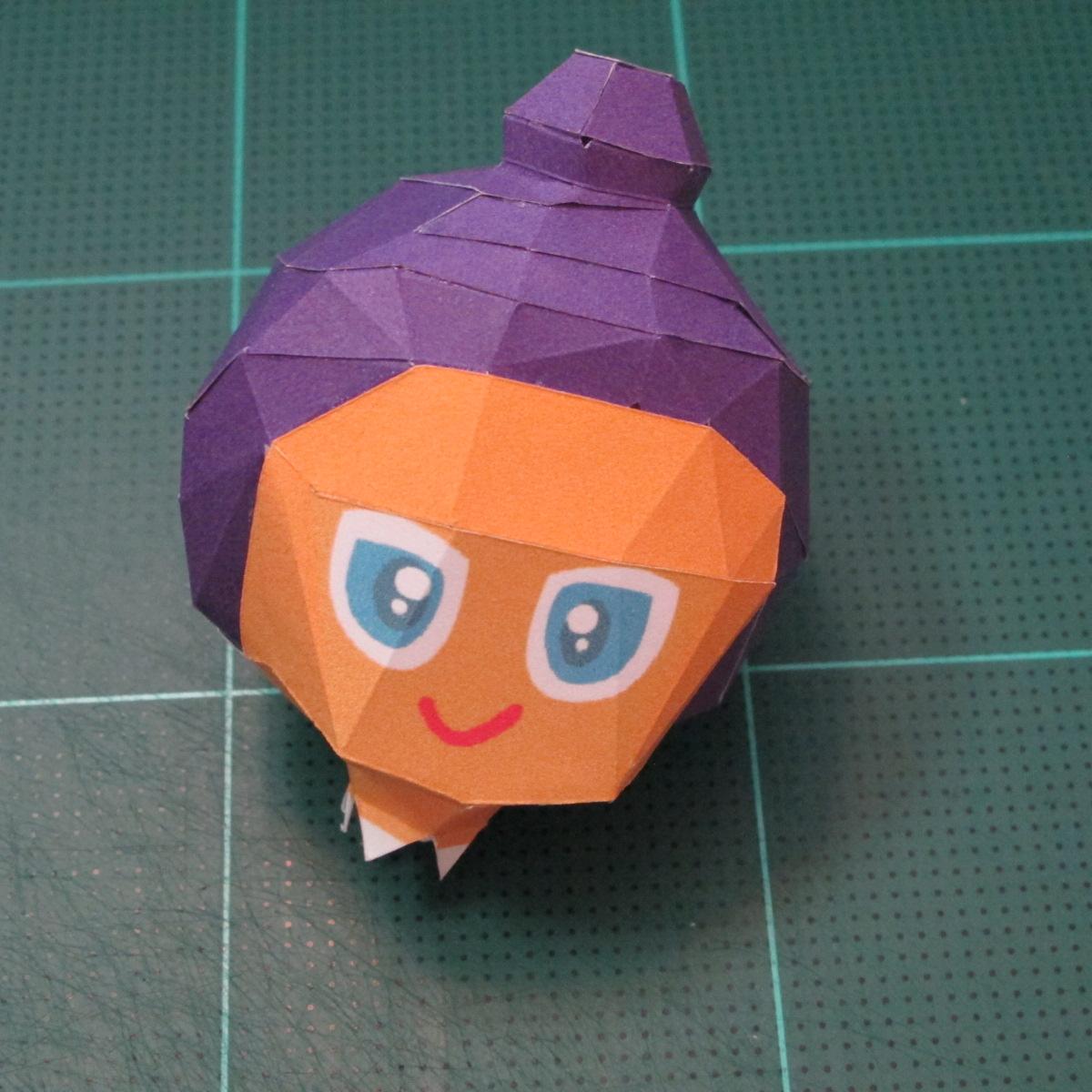 วิธีทำโมเดลกระดาษตุ้กตา คุกกี้รสราชินีสเก็ตลีลา จากเกมส์คุกกี้รัน (LINE Cookie Run Skating Queen Cookie Papercraft Model) 011