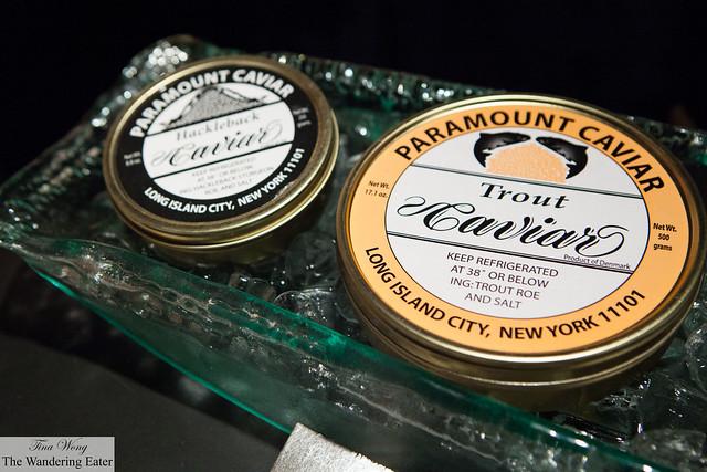 Paramount Caviar tins (at VIP Lounge)
