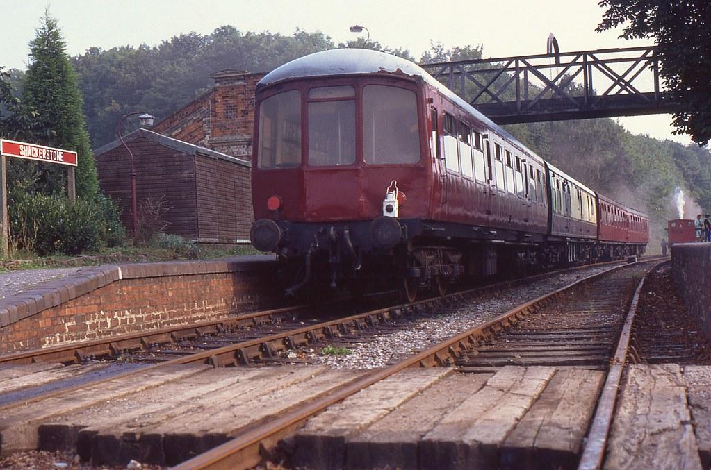 Shackerstone Railway Station, Battlefield Railway, 26th. August 1990 by Crewcastrian