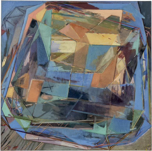 Katschleife, 100 x 100 cm, Eitempera,Öl/Pigmente, 2013