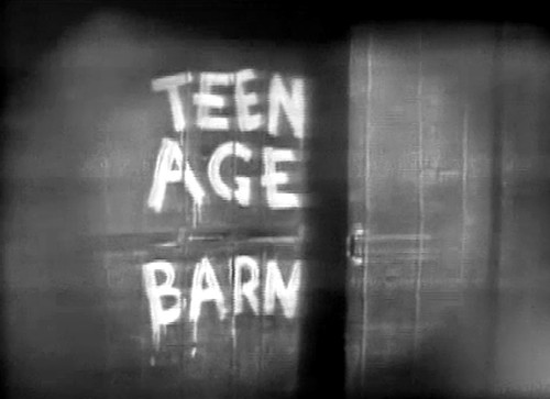 TV set teen age barn show  1950s  albany ny | by albany group archive