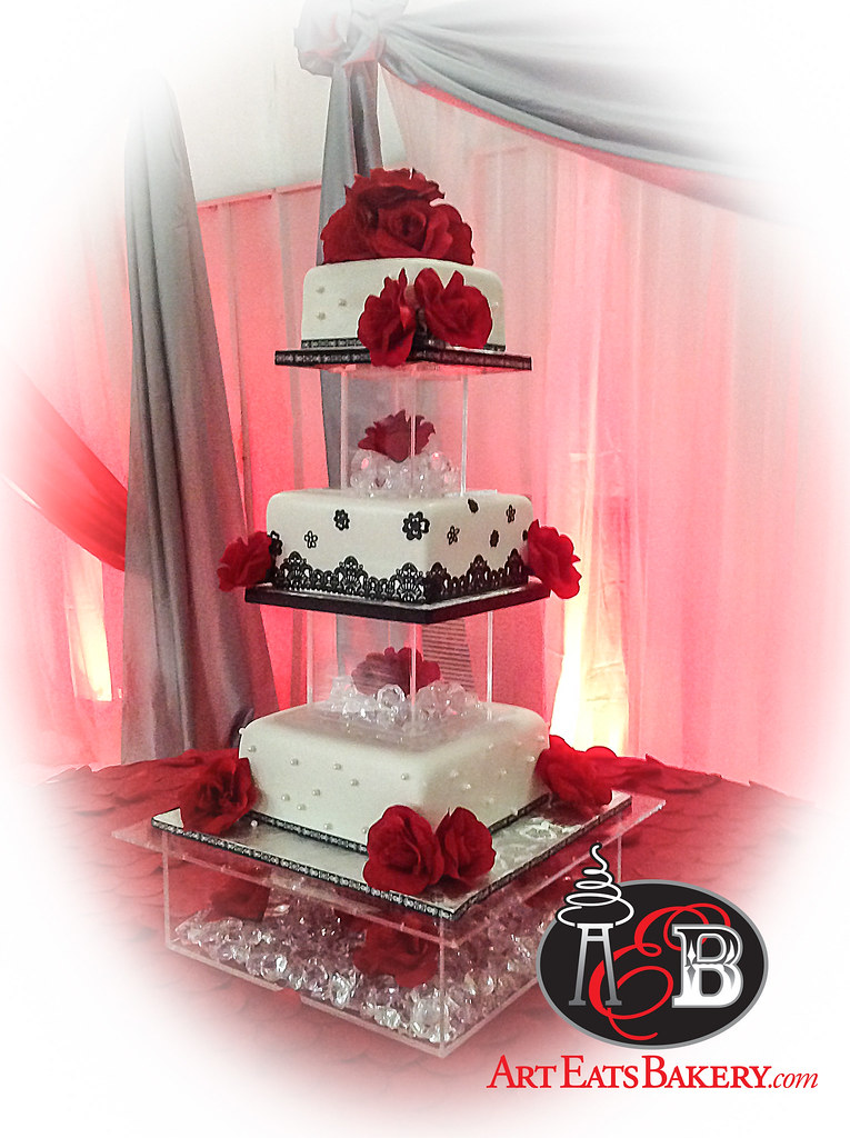 Peachy White Black And Red Quinceanera Girls 15Th Birthday Cake Flickr Funny Birthday Cards Online Amentibdeldamsfinfo