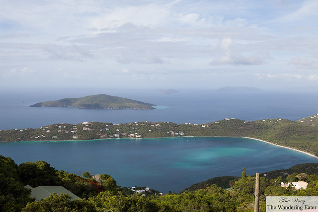 View of Margens Bay, Thatch Cay, and Hans Lollick (island in background) from Mountain Top