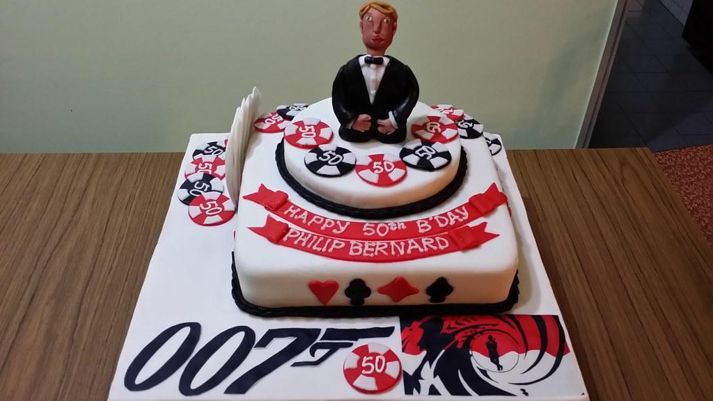 Fantastic James Bond Casino Royale Themed Cake James Bond Casino R Flickr Personalised Birthday Cards Arneslily Jamesorg