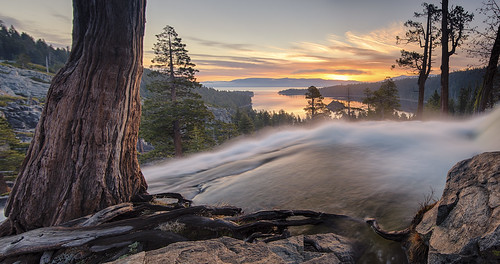 nature clouds sunrise waterfall laketahoe sierranevada alpinelake emeraldbay southlaketahoe eaglefalls easternsierra