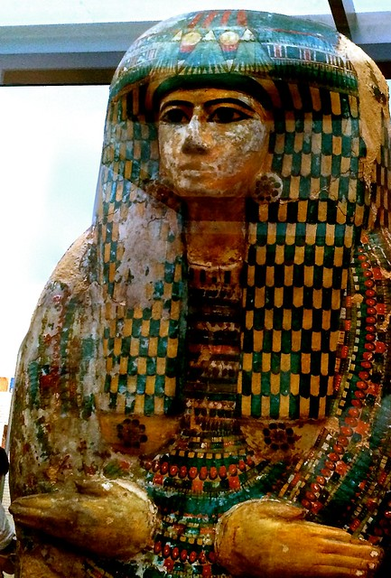 Mummy Case, Egyptian, British Museum, London, April 2014