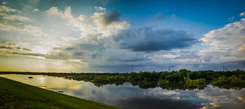 sunset panorama tx houston crop oilpaint johnchandler nikkor24mmf2 addicksreservoir autopanogiga 5stitchedimages johnsdigitaldreamscom treyratclifflightroompreset sonya7r