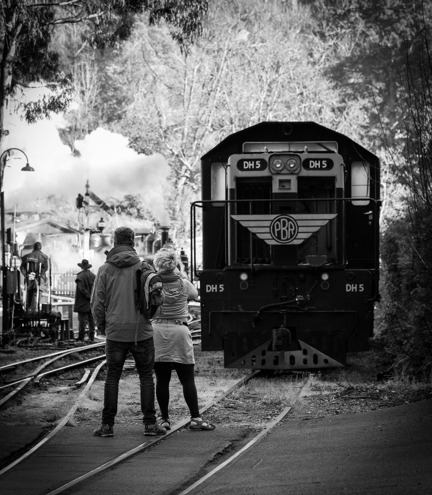 Watching the trains by michaelgreenhill