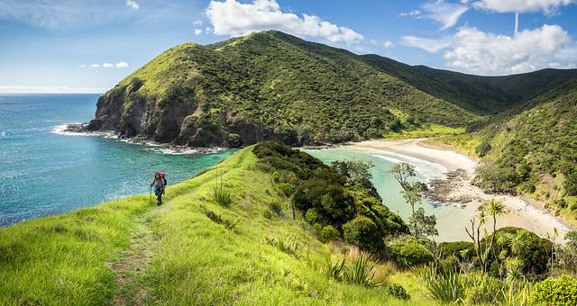 Hiker at Sandy Bay