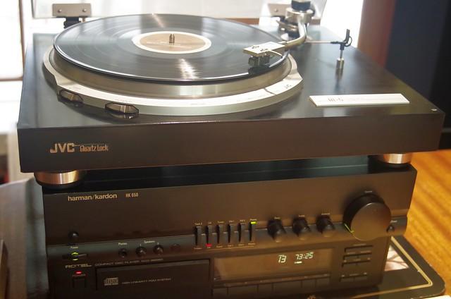 JVC QL-5 Turntable + Harman Kardon HK650 Amplifier + Rotel RCD-865BX CD Player