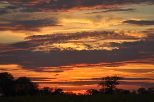 april sky evening sunset eveninglight clouds norfolk norfolkcountryside