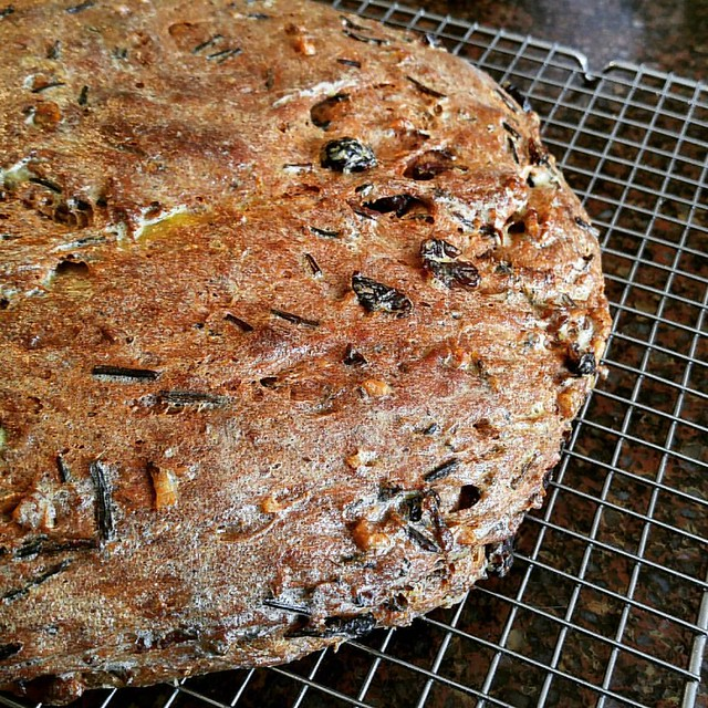 Cranberry, Walnut and Wild Rice Loaf
