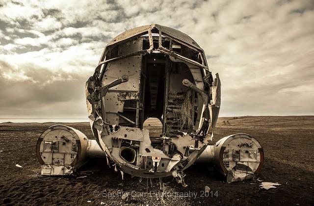 Crashed DC3, near Vik