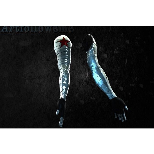 Winter soldier arm #art #artfollowsme #captainamerica #the