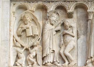 Modène (Emilie-Romagne), la cathédrale - sculpture romane :  scènes de la Genèse - 02 | by roger joseph
