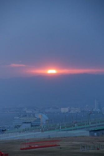 japan sunrise 大阪 日本 osaka kix 初日の出 関空