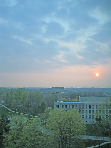 sunset university cloudy dorm indiana bloomington iu willkie