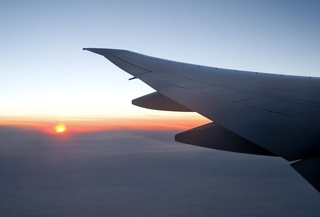 Magic sunset enroute SVO-HKG