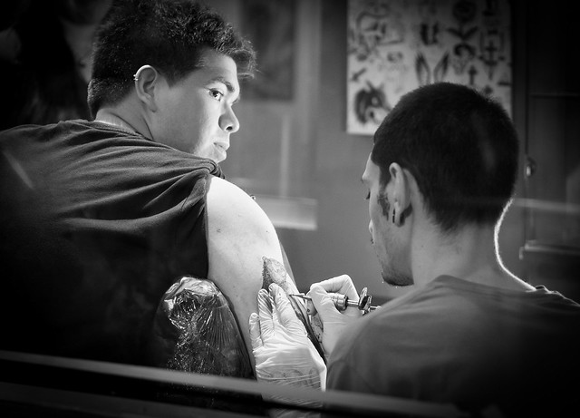 drawing on the skin