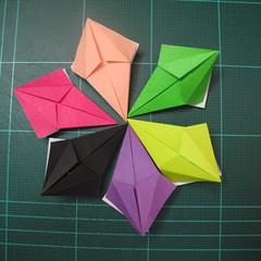 การพับกระดาษแบบโมดูล่าเป็นดาวสปาราซิส (Modular Origami Sparaxis Star) 012
