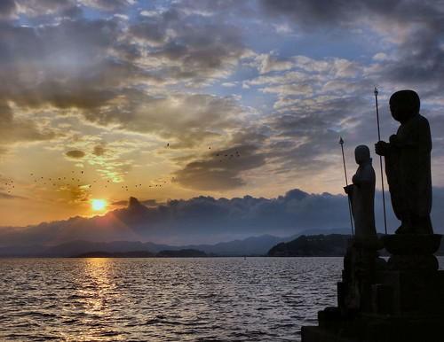 sunset kites arcadia pierrepuvisdechavannes flickraward blinkagain shimaneartmuseummatsuejapan shinjikomatsuejapan