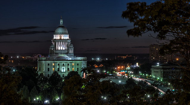 Providence State House At Night edit 2