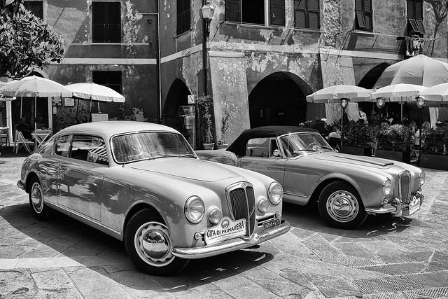 Classic Lancias in Vernazza, Cinque Terre, Italy