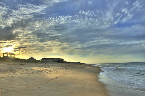 sunset sky usa beach beautiful clouds lens evening nc nikon day waves glow angle cloudy ngc north wide glorious nagshead carolina nikkor hdr