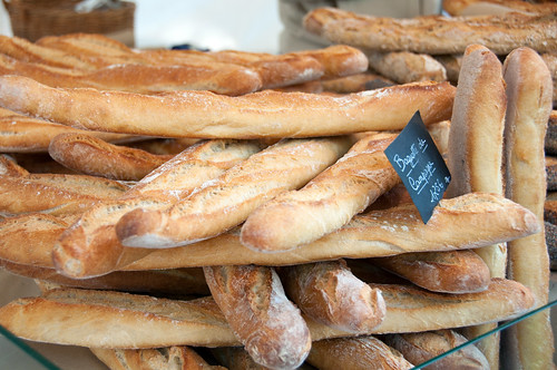 baguettes at the Edgar Quinet market | by Paul and Jill