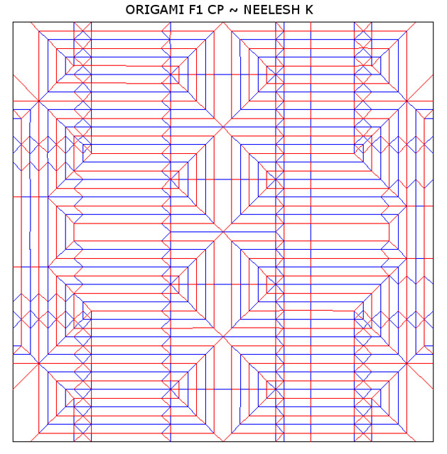 25 Best crease pattern images | Pattern, Crease, Origami | 640x629