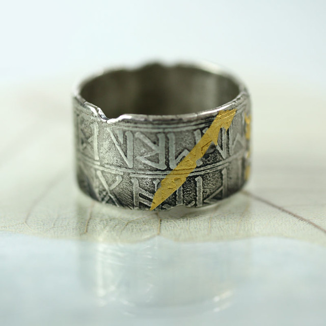 Wide Sterling Band - 'Found' Viking Treasure