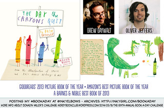 #BookADay : THE DAY THE CRAYONS QUIT written by Drew Daywalt and illustrated by Oliver Jeffers (Philomel/Penguin, 2013) | by Inkygirl