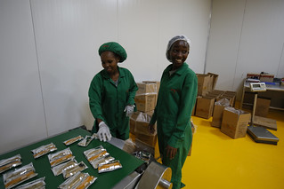 Employees on a Ready to Use Supplementary Food production line at Insta Products in Nairobi, Kenya. | by DFID - UK Department for International Development