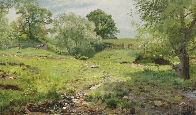 Alexander Alexandrovich Kiselev - Summer Landscape [1895]