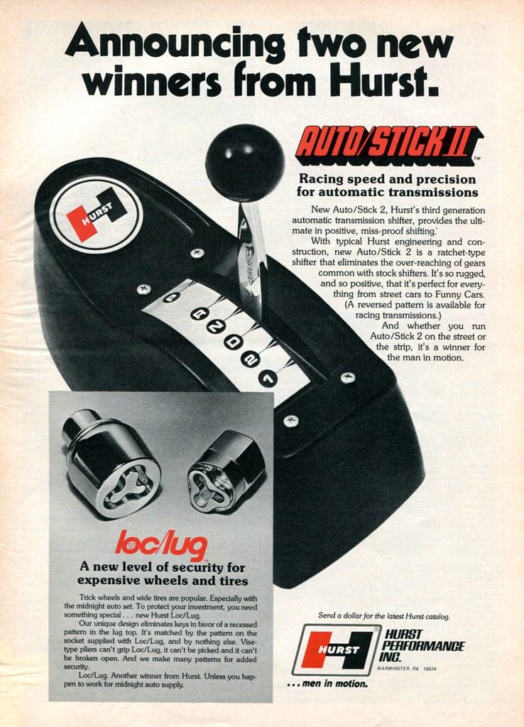 1973 Hurst Automatic Transmission Shifter loc-lug Advertis
