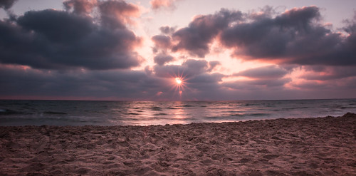 sunset sea beach clouds canon landscape israel sand haifa 1585mm
