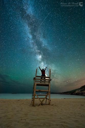 sky beach night unitedstates maine workshop astrophotography nightsky meteor barharbor milkyway selfie sandbeach acadianationalpark