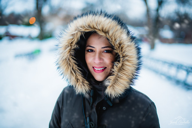 Portrait in the snow.